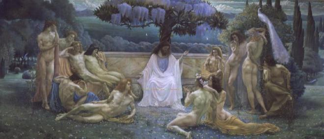 The-School-of-Plato-1898-Jean-Delville-oil-painting-1